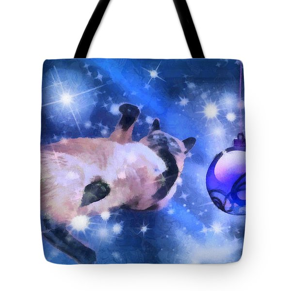 Sulley's Christmas Blues Tote Bag