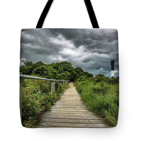 Sullivan's Island Summer Storm Clouds Tote Bag