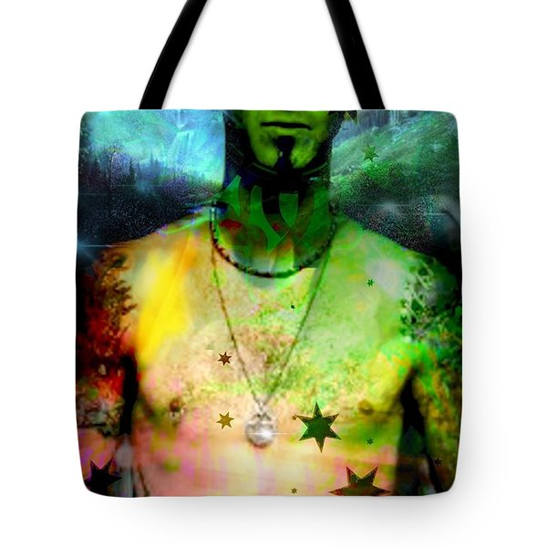 Tote Bag featuring the digital art Sully Erna by Diana Riukas