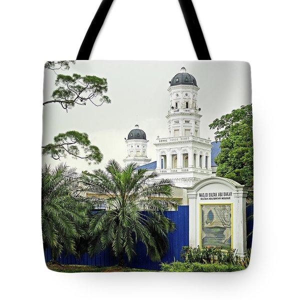 Sultan Abu Bakar Mosque Tote Bag
