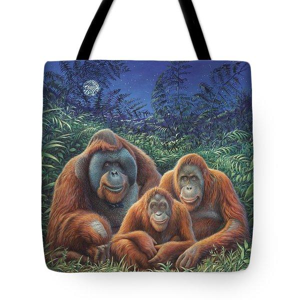 Sumatra Orangutans Tote Bag