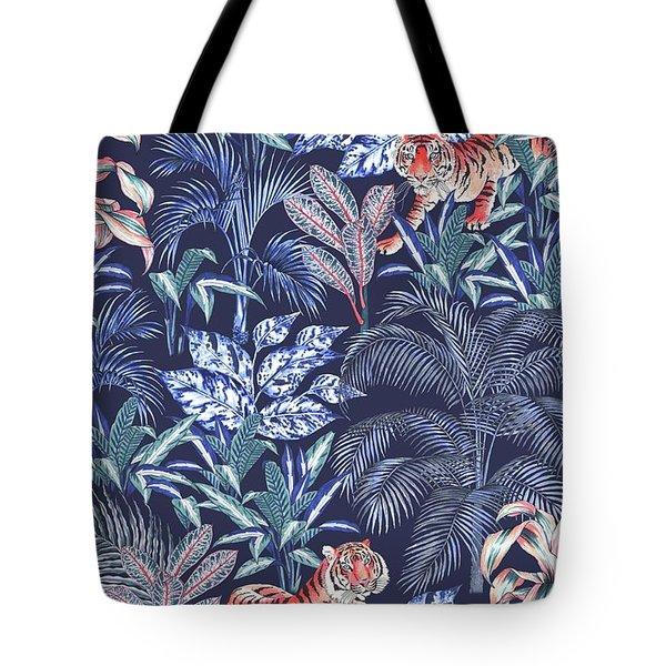 Sumatran Tiger, Blue Tote Bag