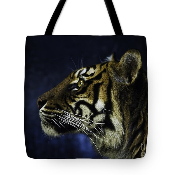 Sumatran Tiger Profile Tote Bag by Avalon Fine Art Photography