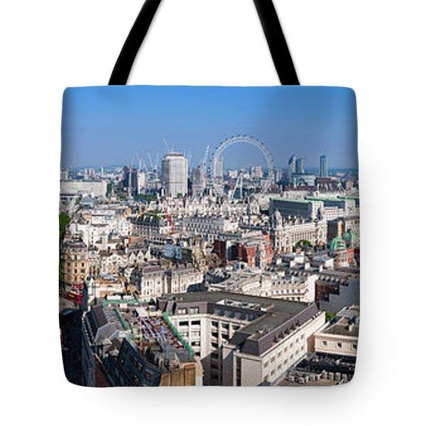 Sumer Panorama Of London Tote Bag