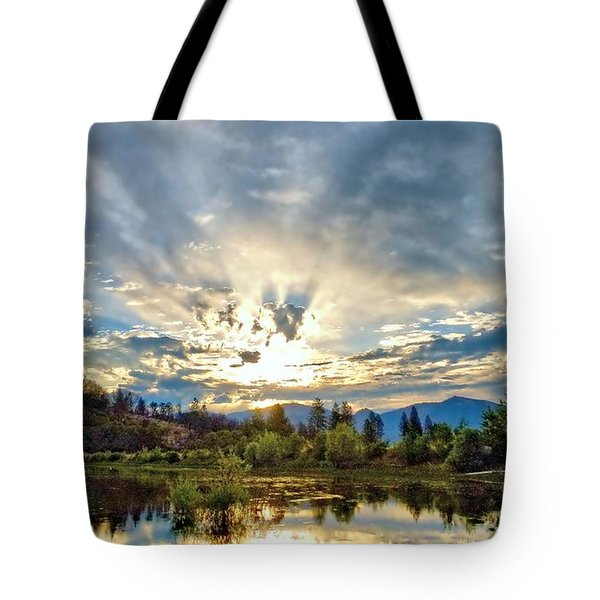Sumer Solstice Sunrise Tote Bag
