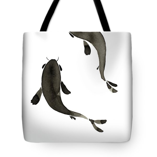 Sumi-e - Koi - One Tote Bag
