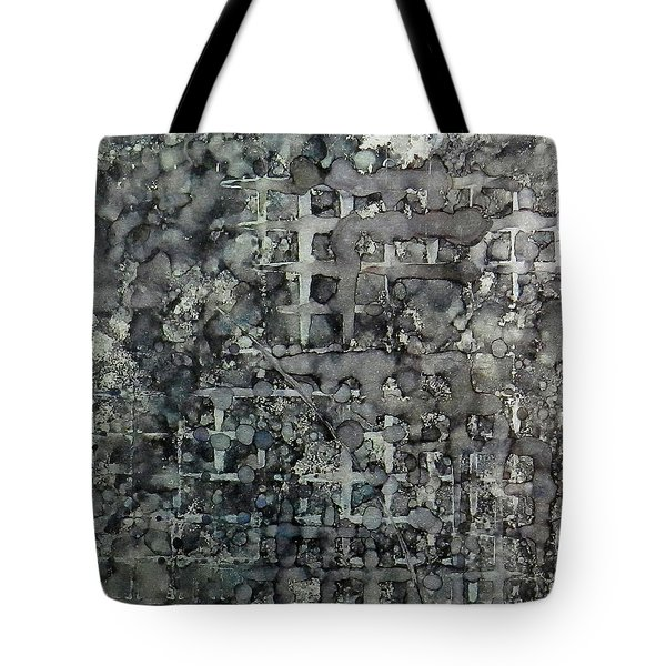Tote Bag featuring the painting Sumi Squares Ink #11 by Sarajane Helm