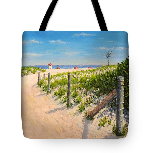 Tote Bag featuring the painting Summer 12-28-13 by Joe Bergholm