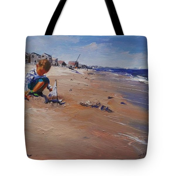 Tote Bag featuring the painting Summer 2016 by Laura Lee Zanghetti