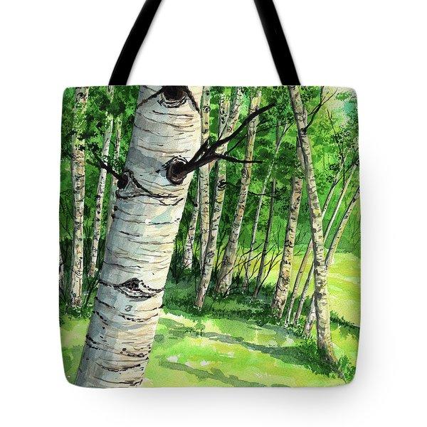 Summer Aspen Tote Bag