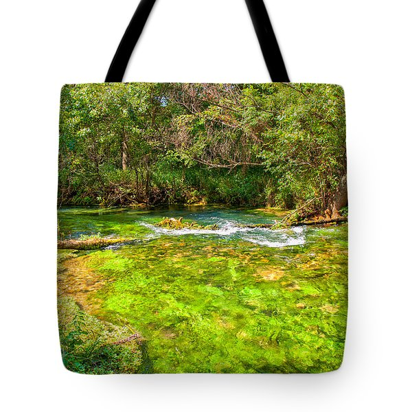 Tote Bag featuring the photograph Summer At Alley Springs by John M Bailey