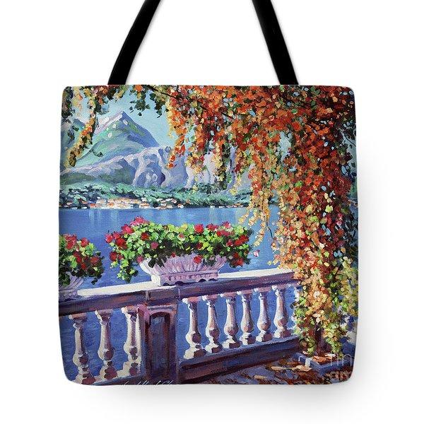 Summer At Lake Como Tote Bag