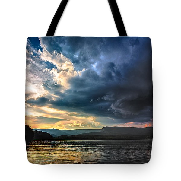 Summer At Lake James Tote Bag by Robert Loe