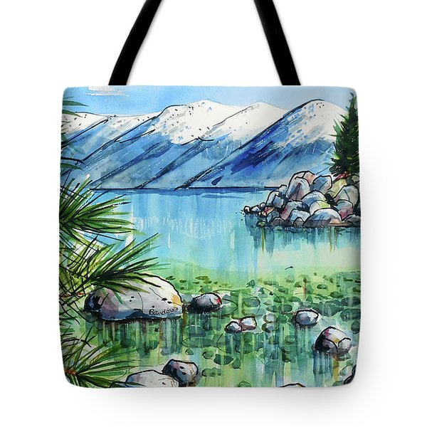 Tote Bag featuring the painting Summer At Lake Tahoe by Terry Banderas