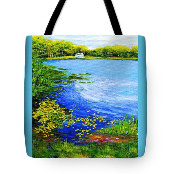 Summer At The Lake Tote Bag