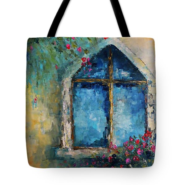 Tote Bag featuring the painting Summer At The Old Castle by AmaS Art