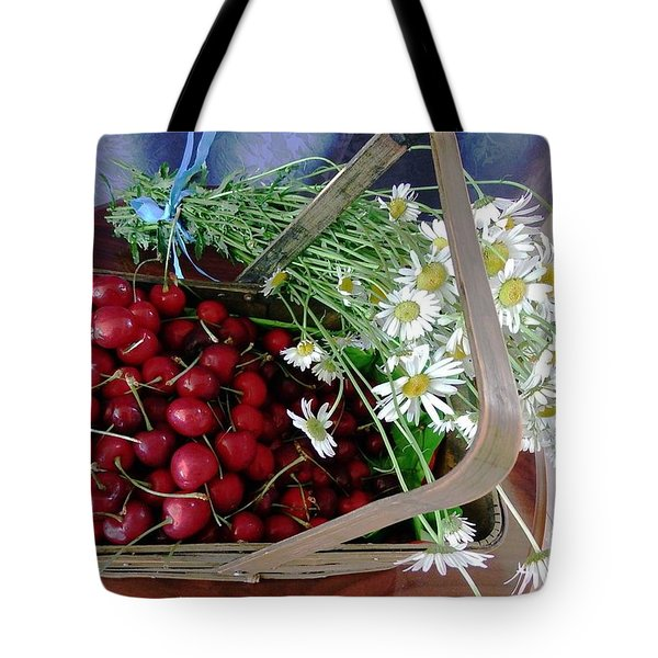 Tote Bag featuring the photograph Summer Basket by Vicky Tarcau