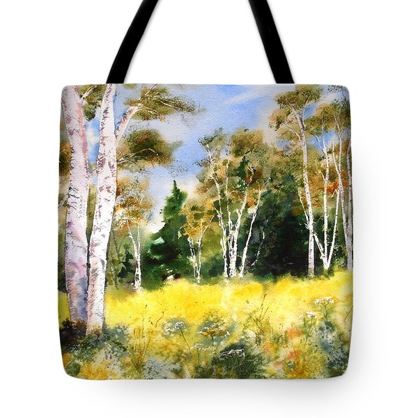 Summer Birches Tote Bag