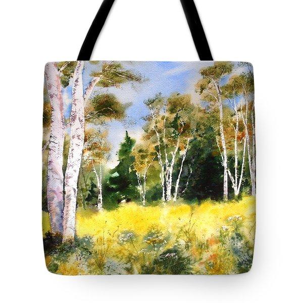 Summer Birches Tote Bag