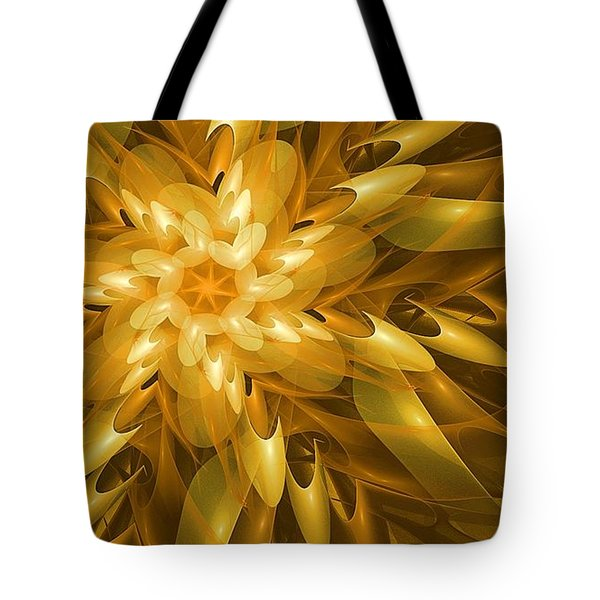 Tote Bag featuring the digital art Summer Blossoms by Linda Whiteside