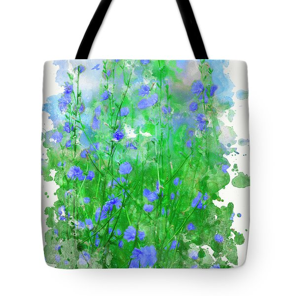 Summer Blue Tote Bag by Ron Jones