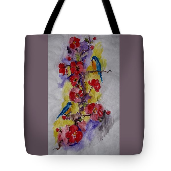 Summer Bluebirds Tote Bag