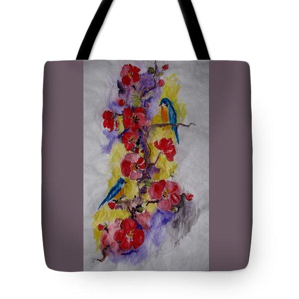 Summer Bluebirds Tote Bag