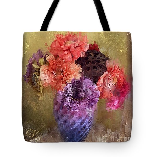 Tote Bag featuring the digital art Summer Bouquet by Alexis Rotella