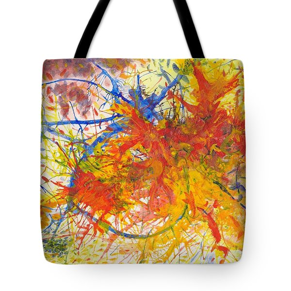 Summer Branches Alfame With Flower Acrylic/water Tote Bag