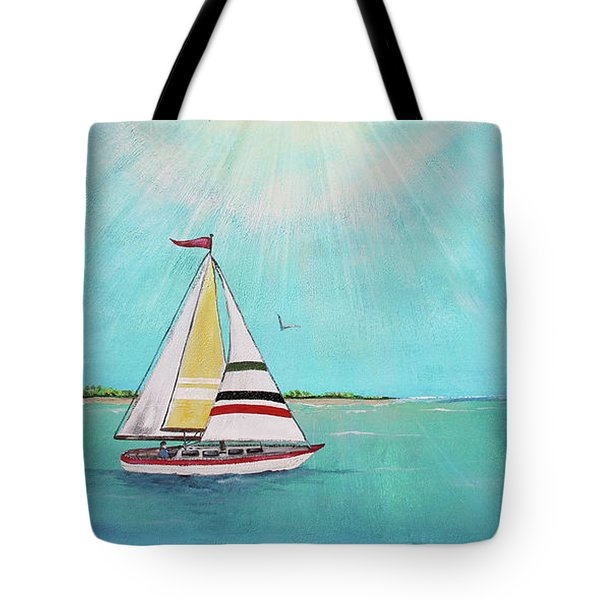 Tote Bag featuring the painting Summer Breeze-b by Jean Plout
