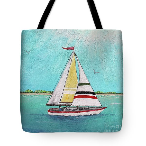 Tote Bag featuring the painting Summer Breeze-d by Jean Plout