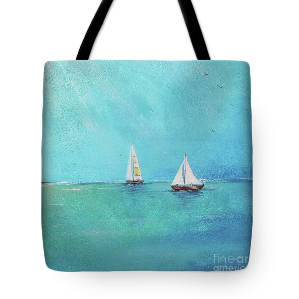 Tote Bag featuring the painting Summer Breeze-e by Jean Plout