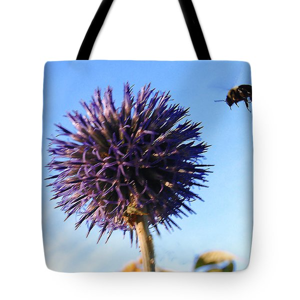 Tote Bag featuring the photograph Summer Busy Bee by Roger Bester