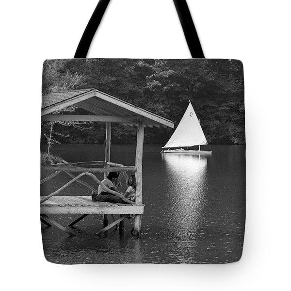 Summer Camp Black And White 1 Tote Bag