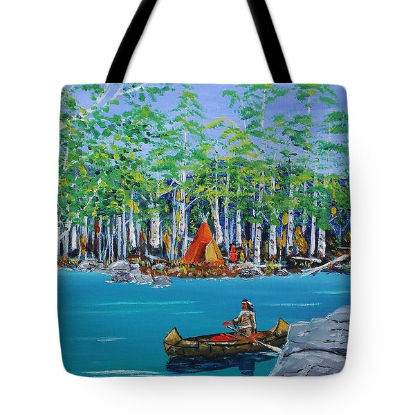 Summer Camp Tote Bag by Mike Caitham