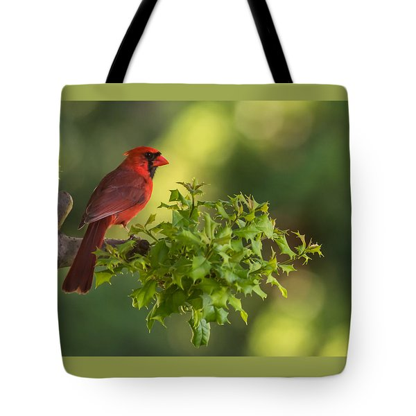 Summer Cardinal New Jersey Tote Bag