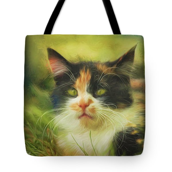 Tote Bag featuring the photograph Summer Cat by Jutta Maria Pusl