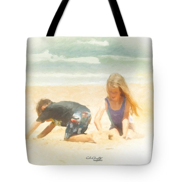 Tote Bag featuring the painting Summer by Chris Armytage