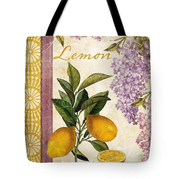 Summer Citrus Lemon Tote Bag