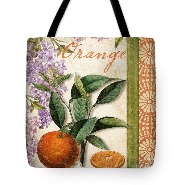 Summer Citrus Orange Tote Bag