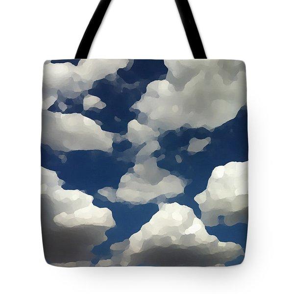 Summer Clouds In A Blue Sky Tote Bag