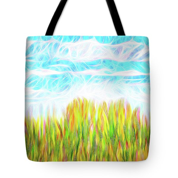 Summer Clouds Streaming Tote Bag