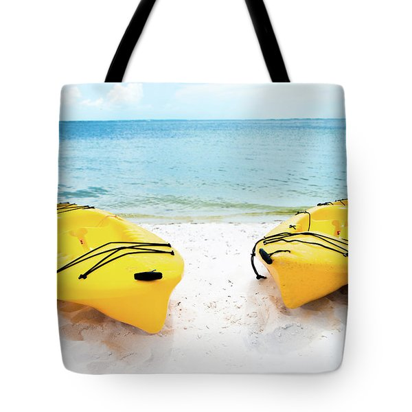 Tote Bag featuring the photograph Summer Colors On The Beach by Shelby Young