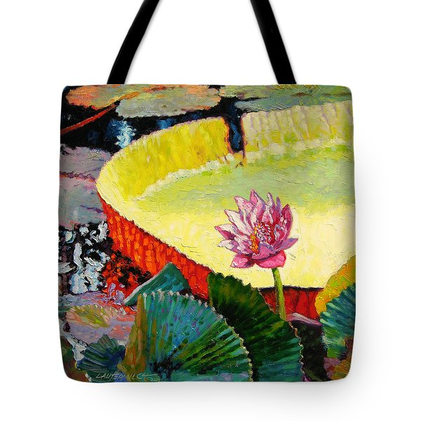 Summer Colors On The Pond Tote Bag by John Lautermilch