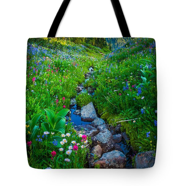 Summer Creek Tote Bag