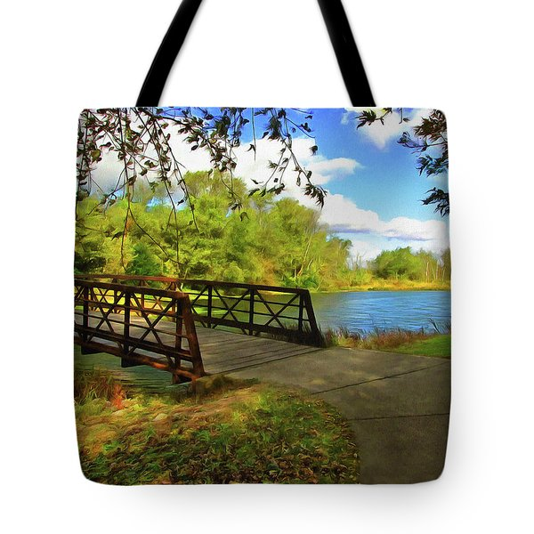 Summer Crossing Tote Bag