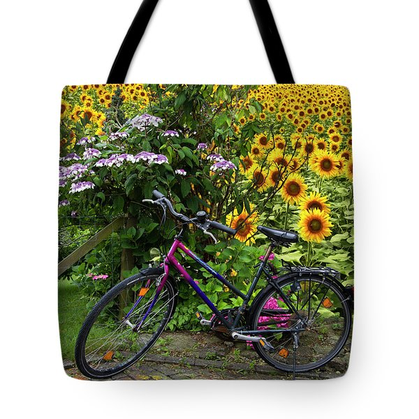 Summer Cycling Tote Bag by Debra and Dave Vanderlaan