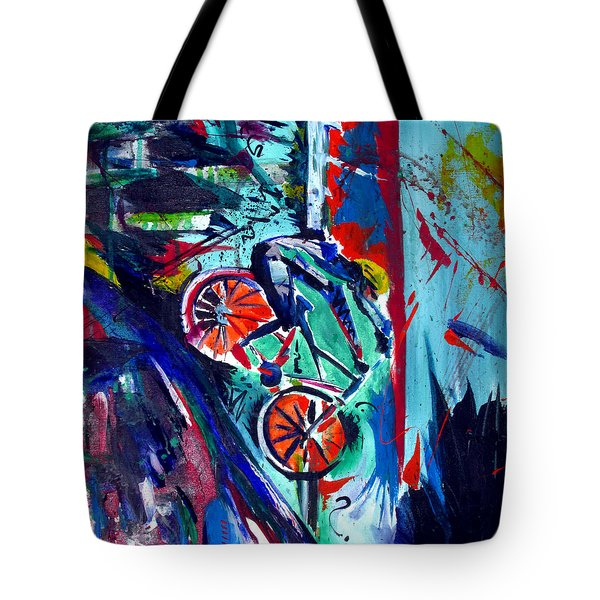 Summer Cycling Tote Bag