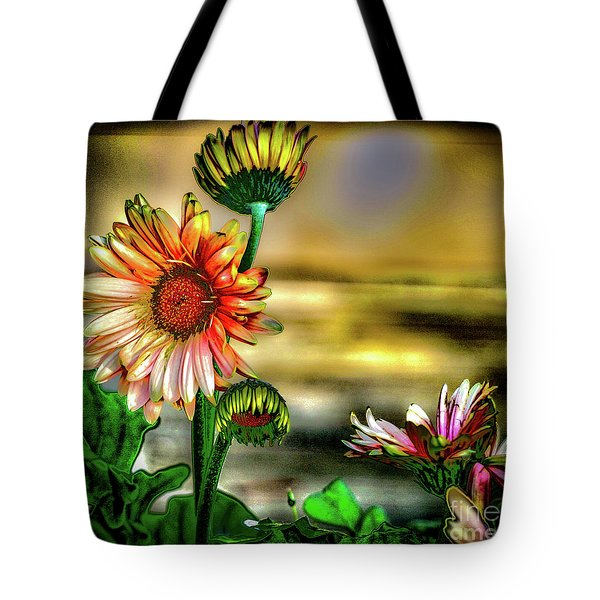 Tote Bag featuring the photograph Summer Daisy by William Norton