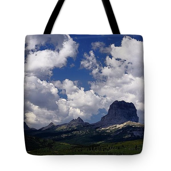 Summer Day At Chief Mountain Tote Bag